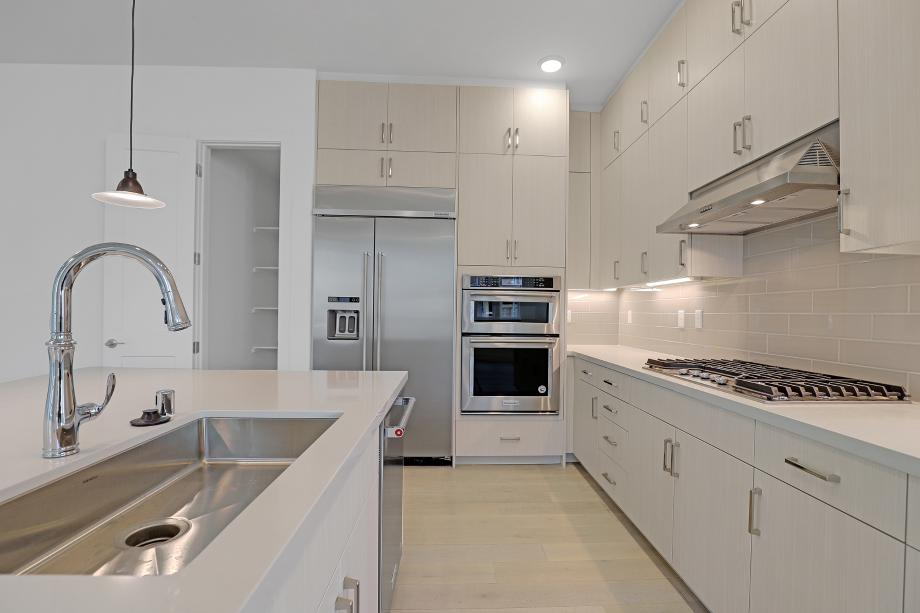 Stainless steel appliances included in kitchen