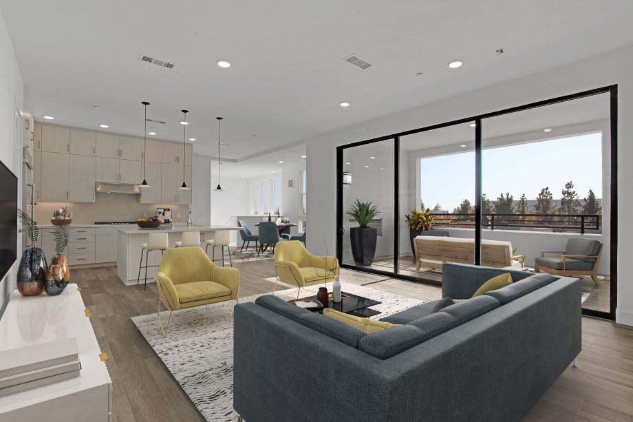 Spacious open-concept floor plan