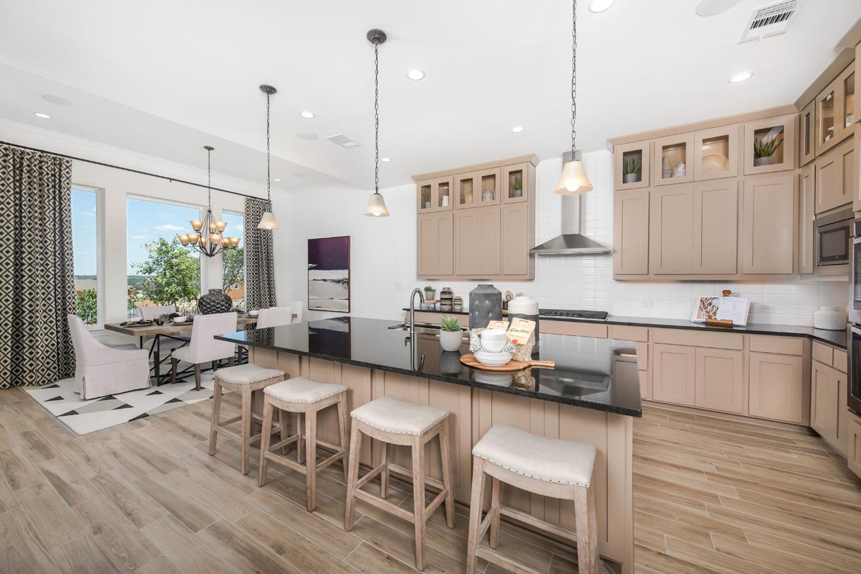 Gourmet Longview kitchen with center island