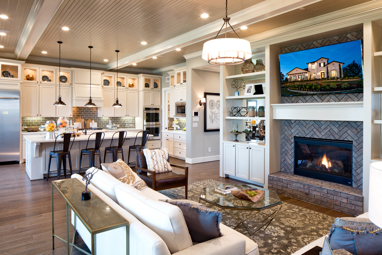 Newcastle great room showcases open-concept living