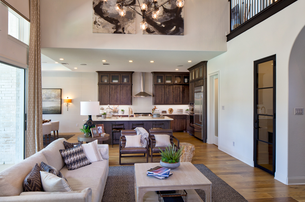 The Longview gourmet kitchen has a large center island with extra space for entertaining
