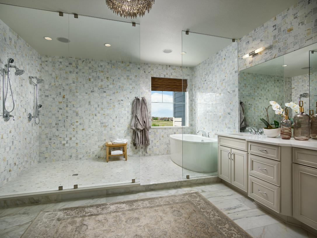 Orion primary bathroom with freestanding tub