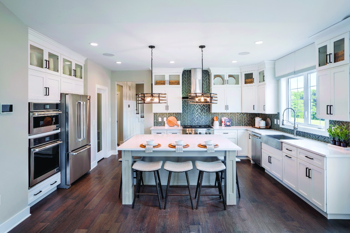 Well-designed kitchens with plenty of storage space