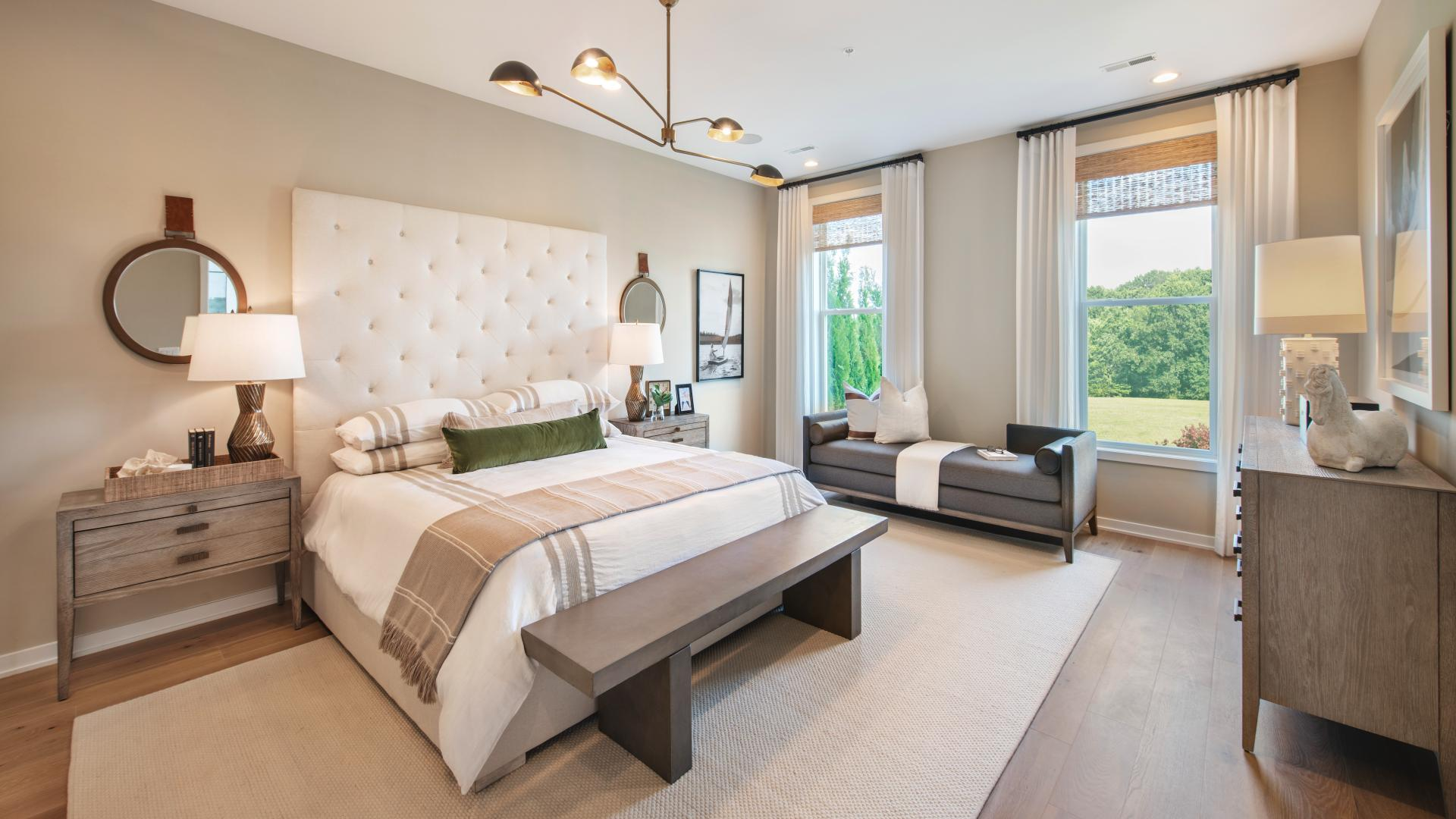 First-floor primary bedroom suites available in all home designs