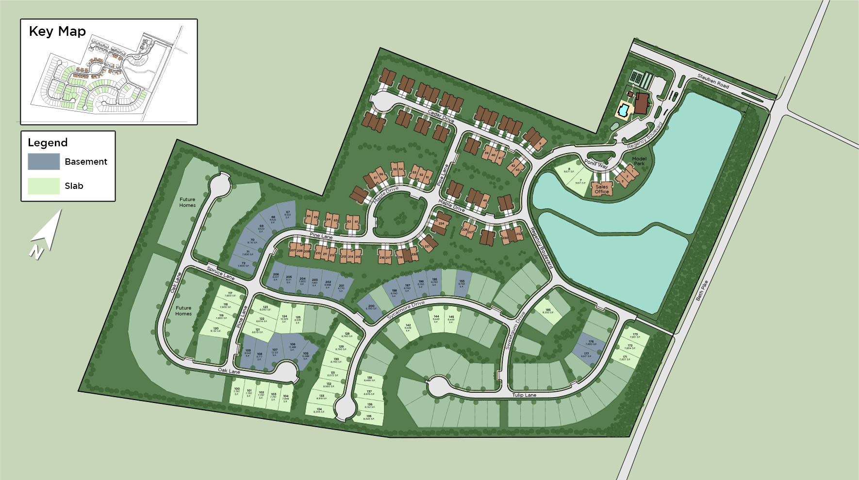 Regency at Creekside Meadows - Carriages Collection Site Plan