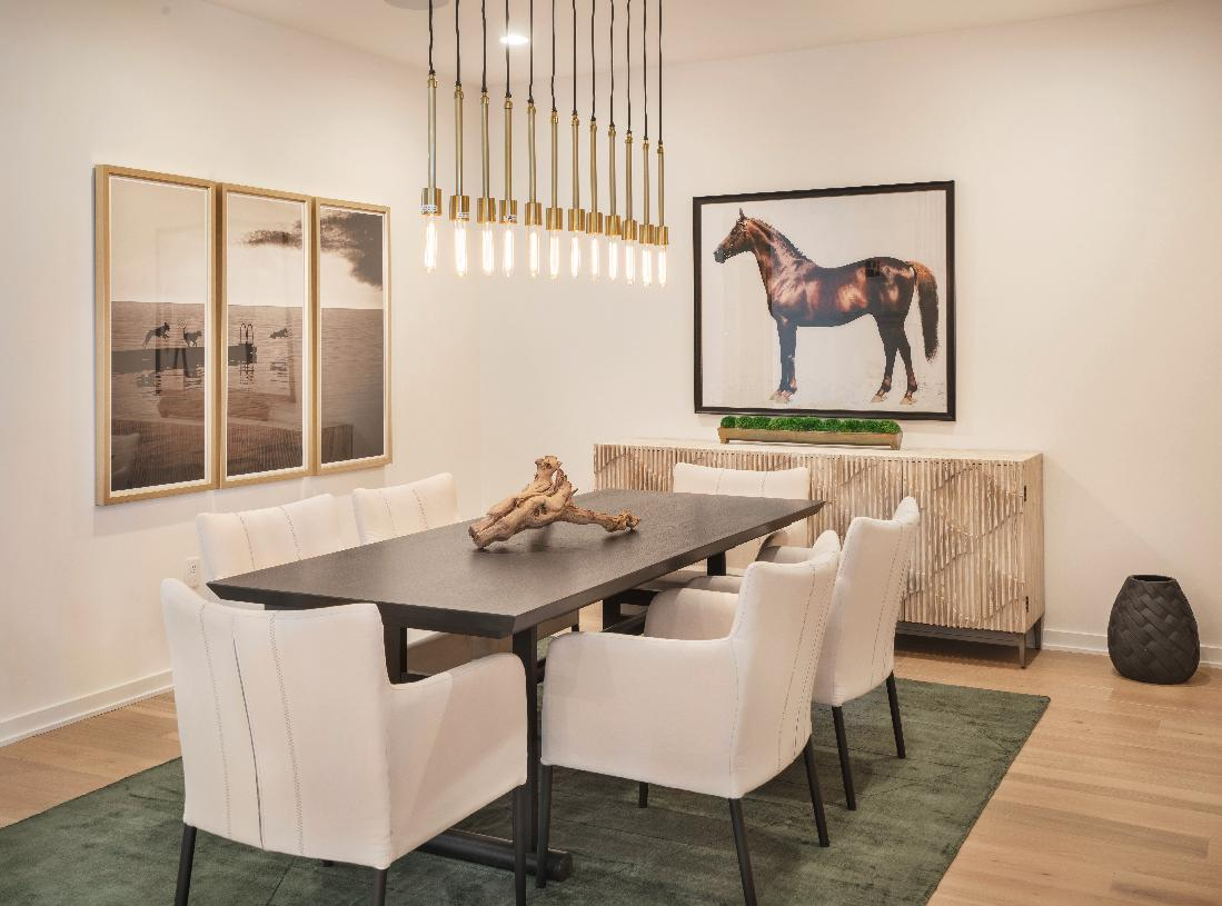 Formal dining room located adjacent to kitchen