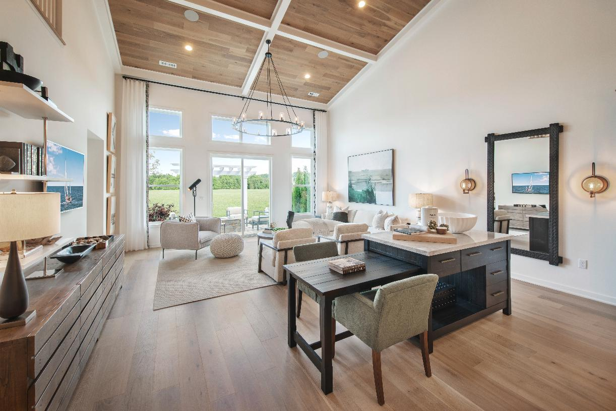 Natural light shines in the expansive great room