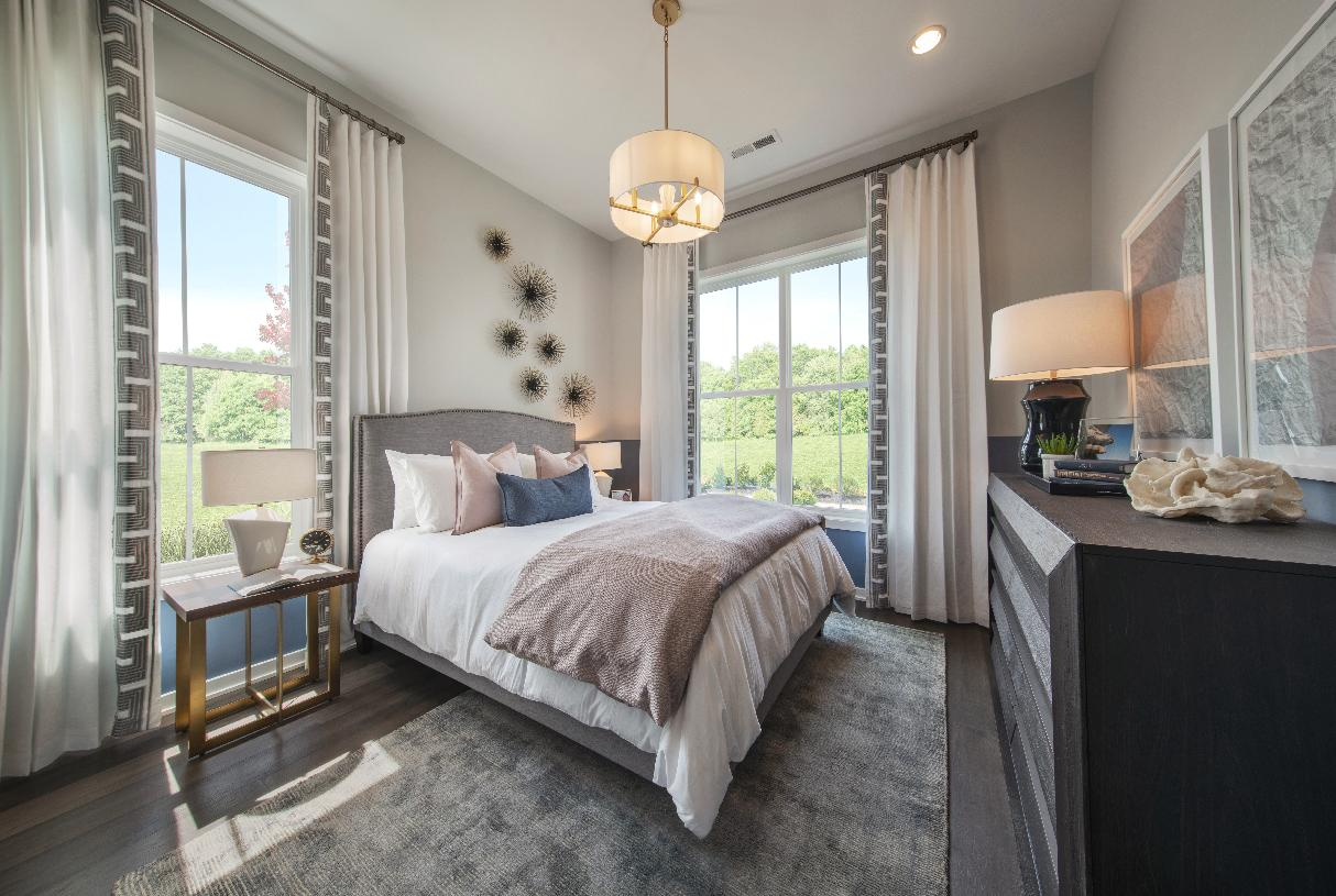 Secluded first-floor guest bedroom