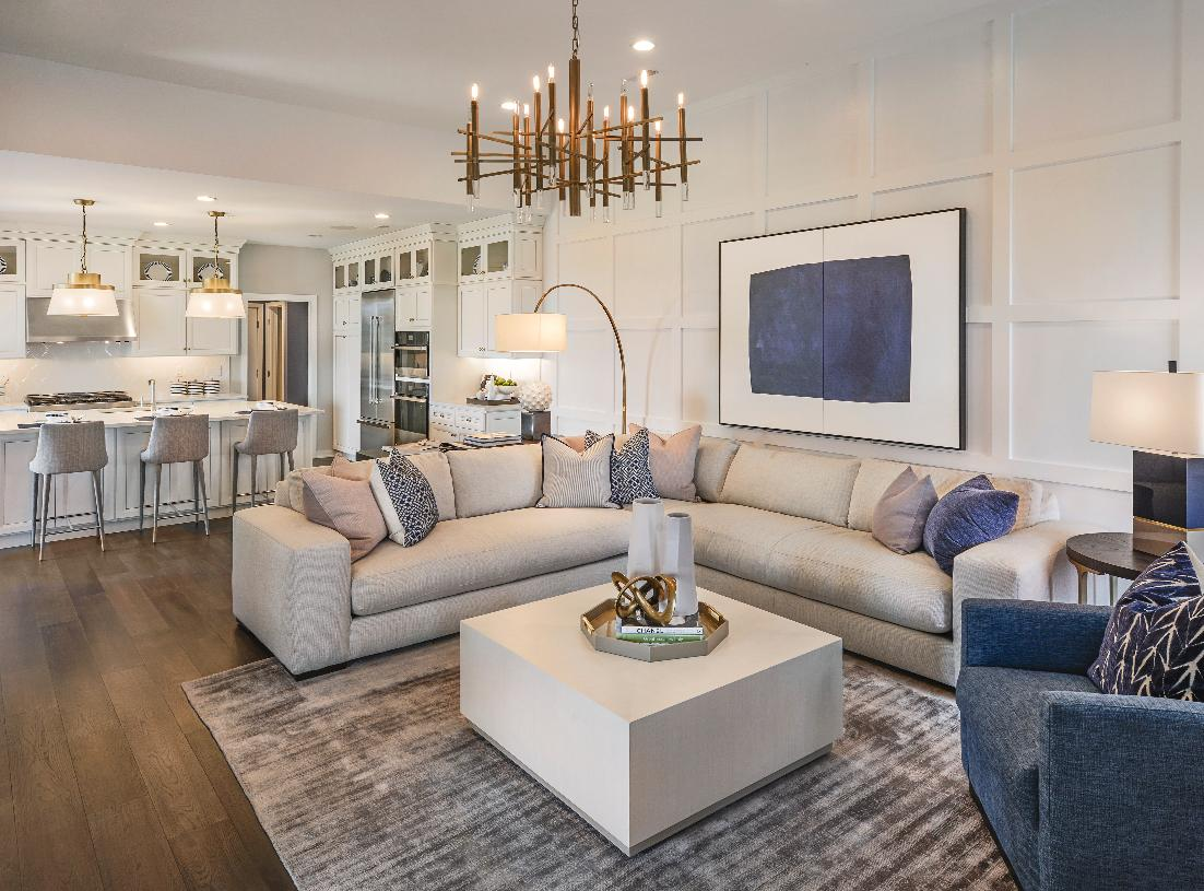 Open concept design is perfect for entertaining