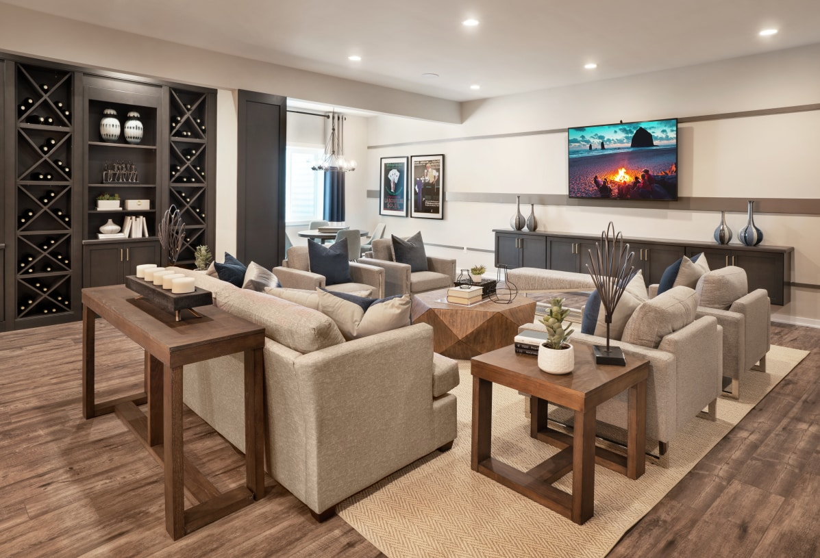 Finished basements provide additional living spaces