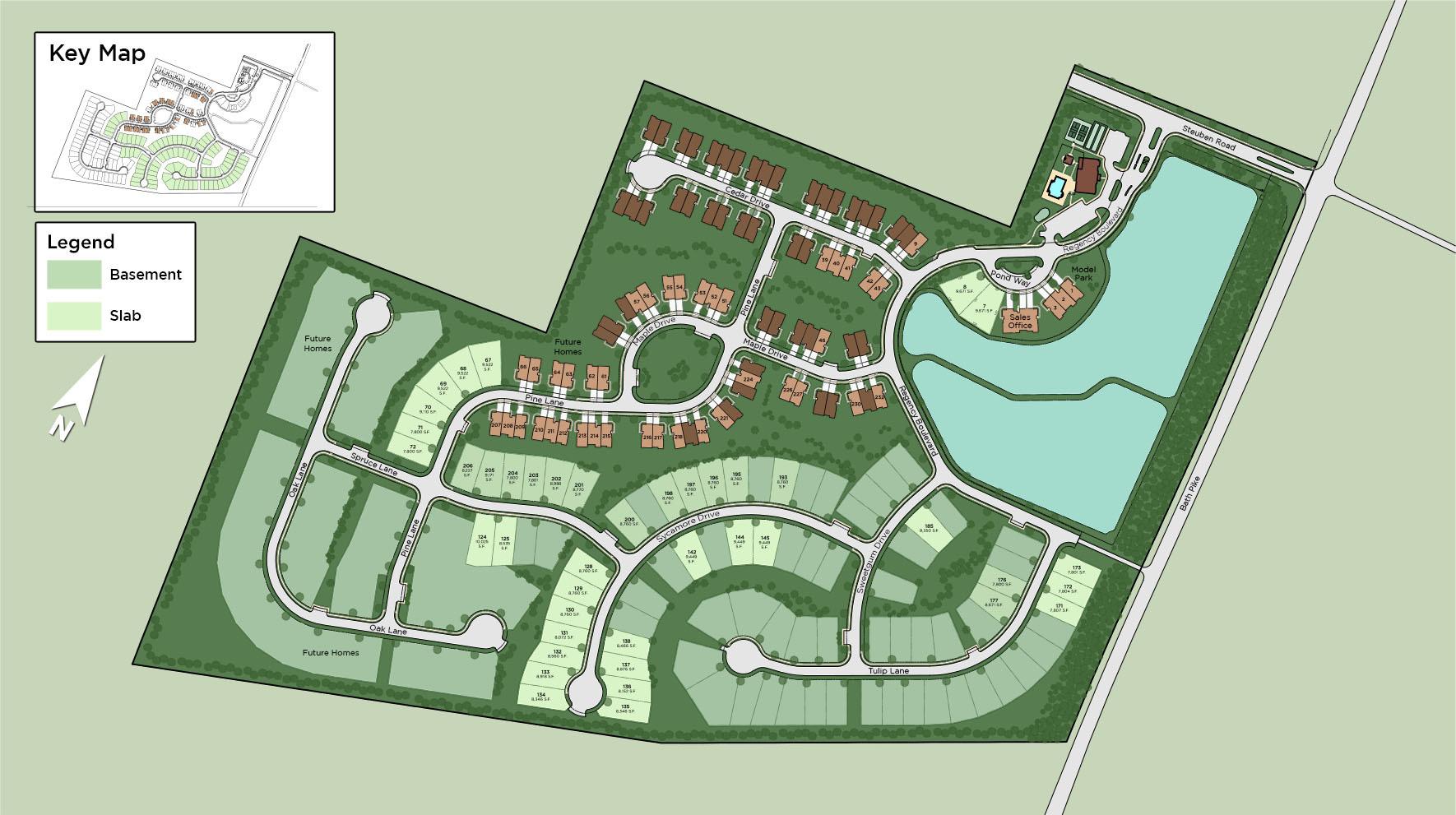 Regency at Creekside Meadows - Villas Collection Site Plan