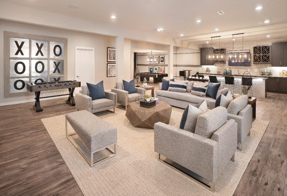 Finished basement for additional entertaining space
