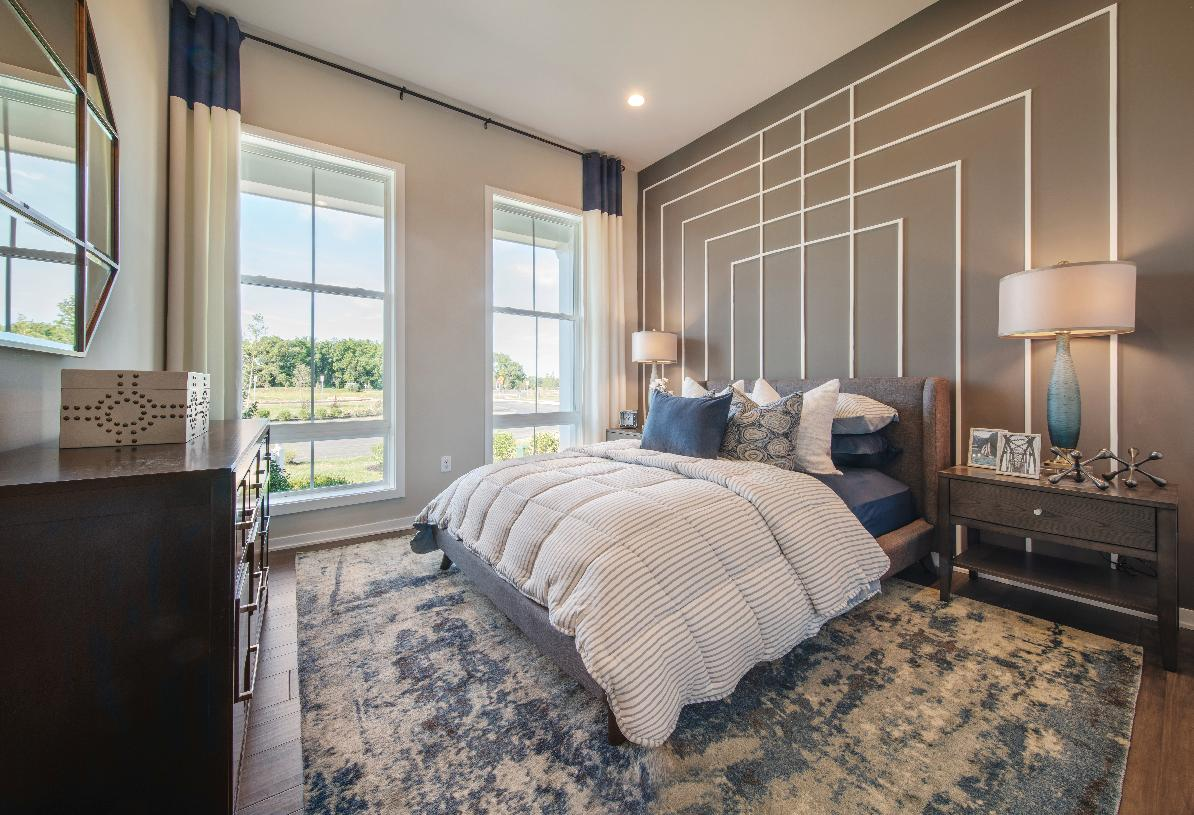 Private guest bedroom with shared full bathroom