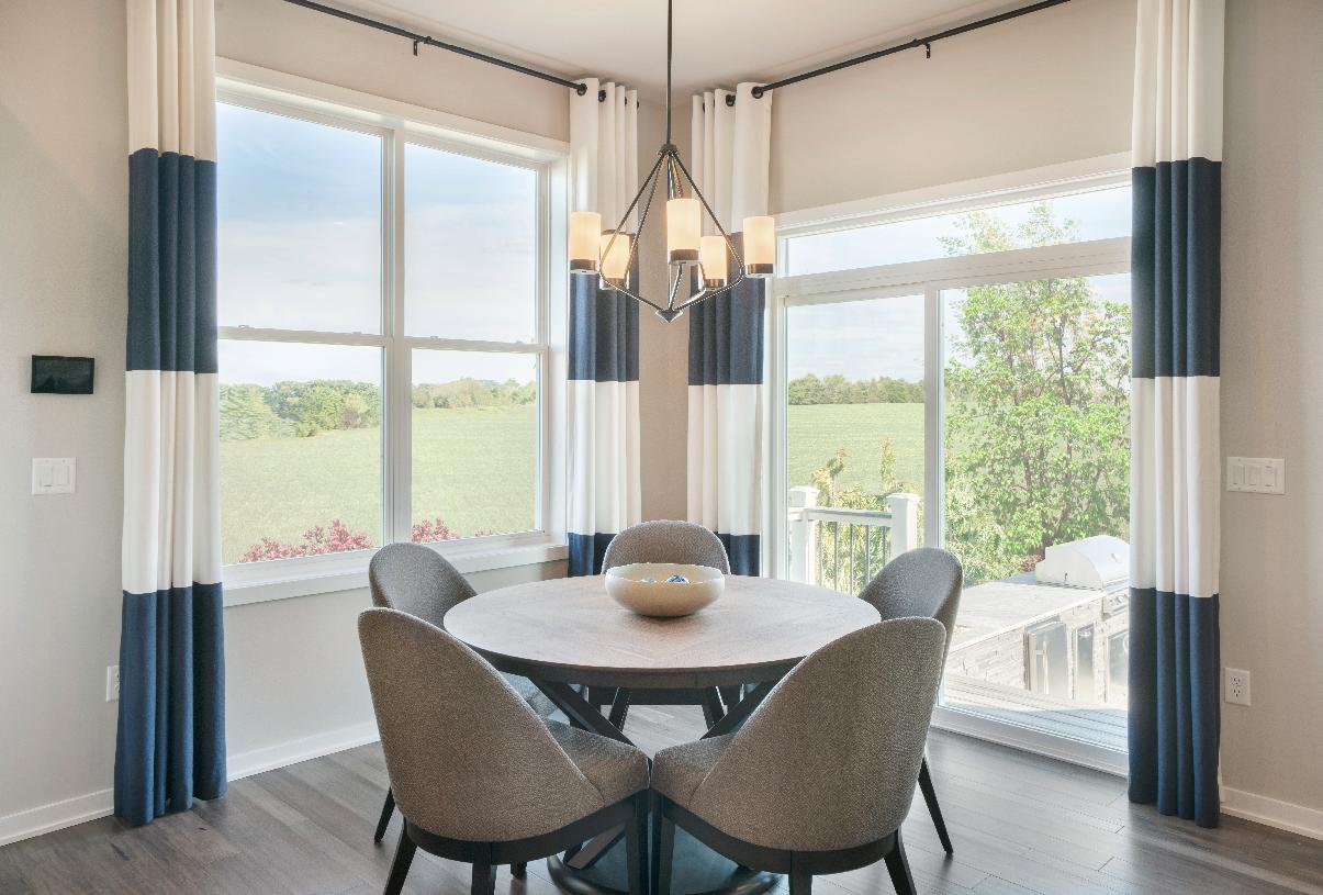 Casual dining area leads to the outdoor patio
