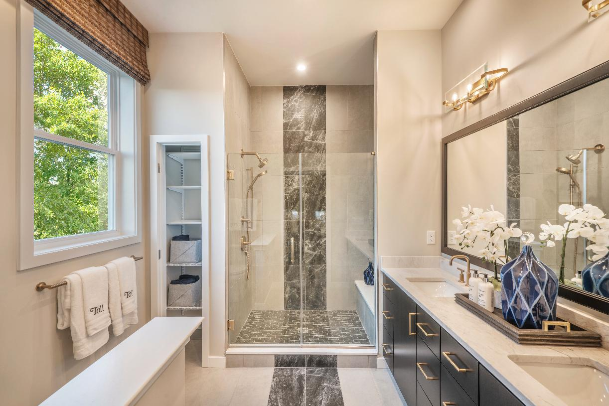 Luxe primary bathroom