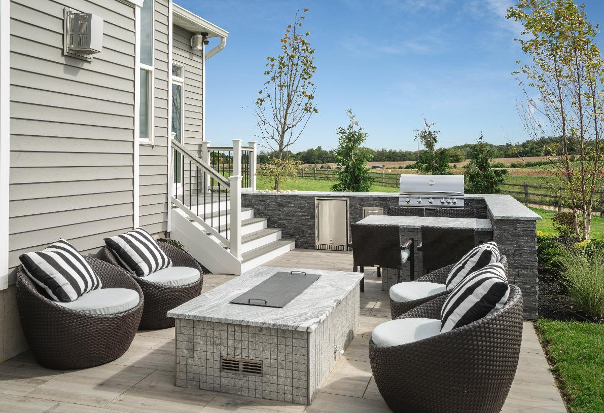 Outdoor living space perfect for intimate gatherings