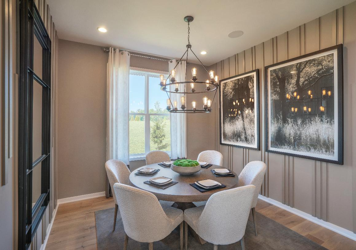 Elegant dining room for entertaining guests