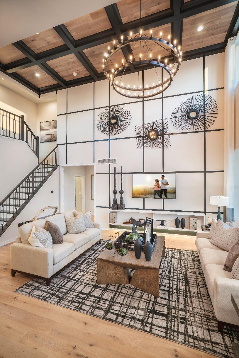 Dramatic two-story great room