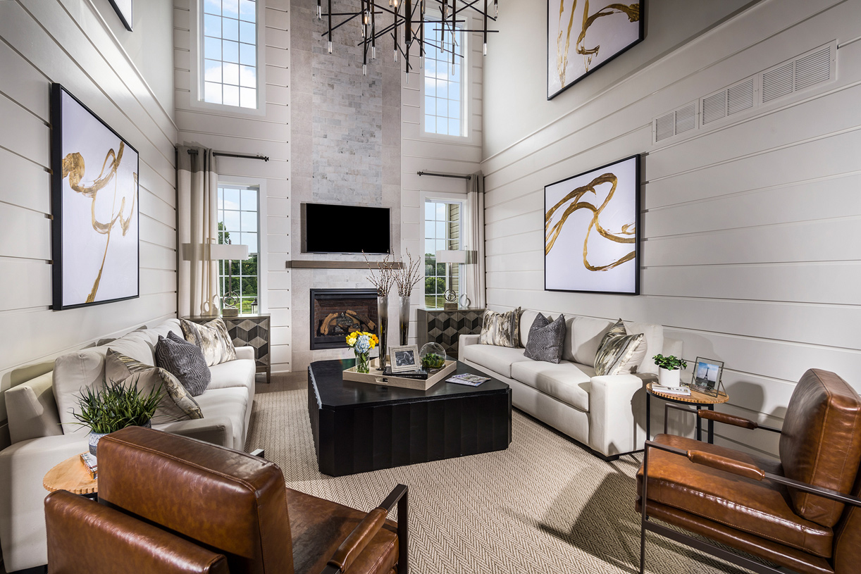 Tall windows in the great room allow for an abundance of natural light