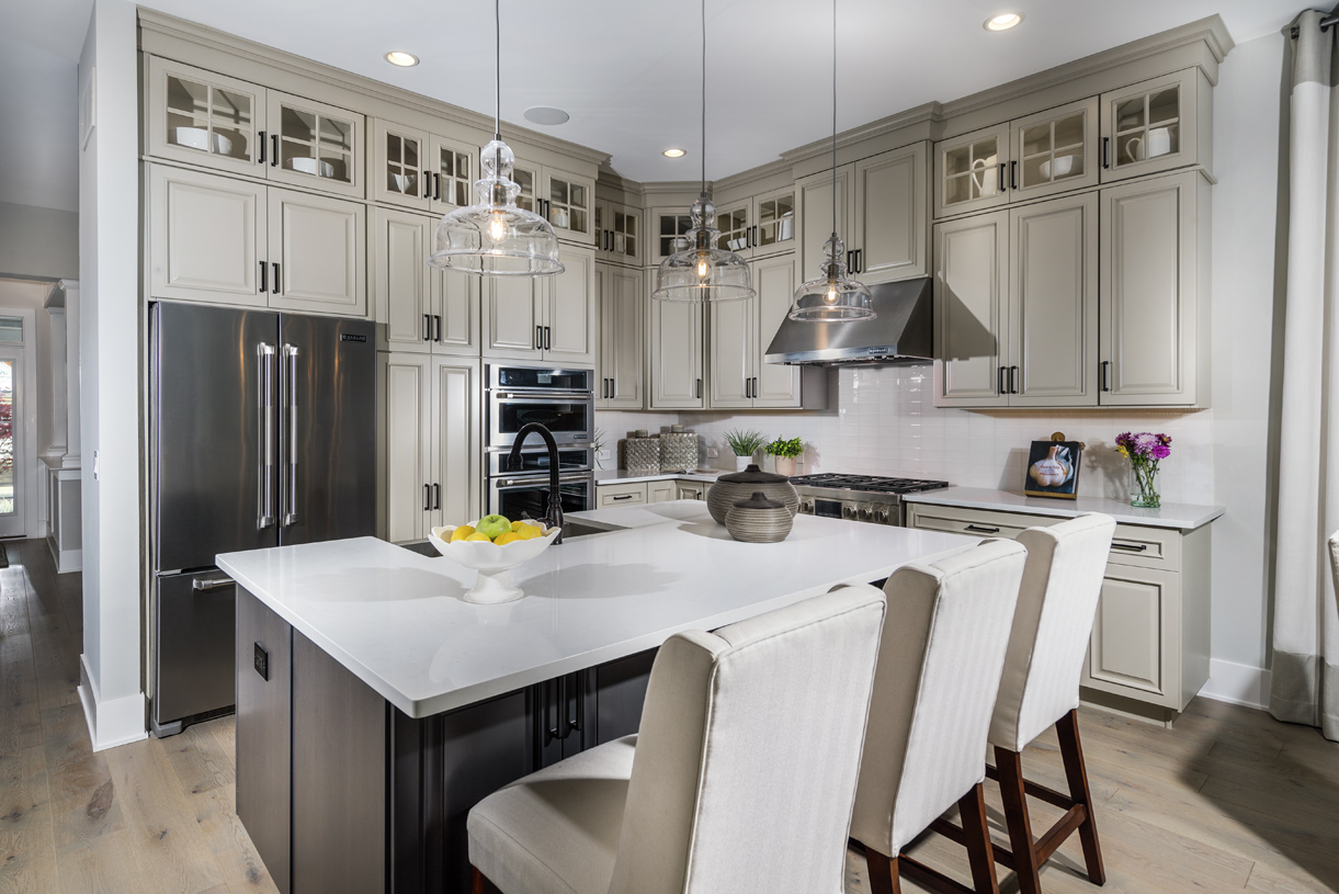 Prepping meals is a breeze with the large center island and ample counter space