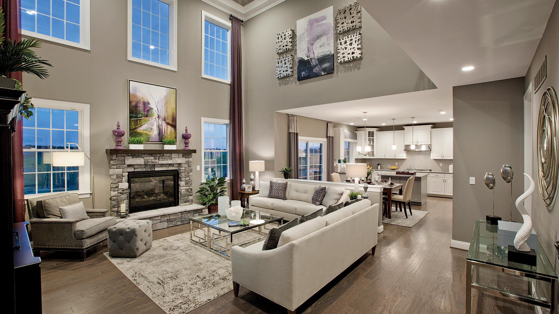 Stunning two-story and single-story great rooms