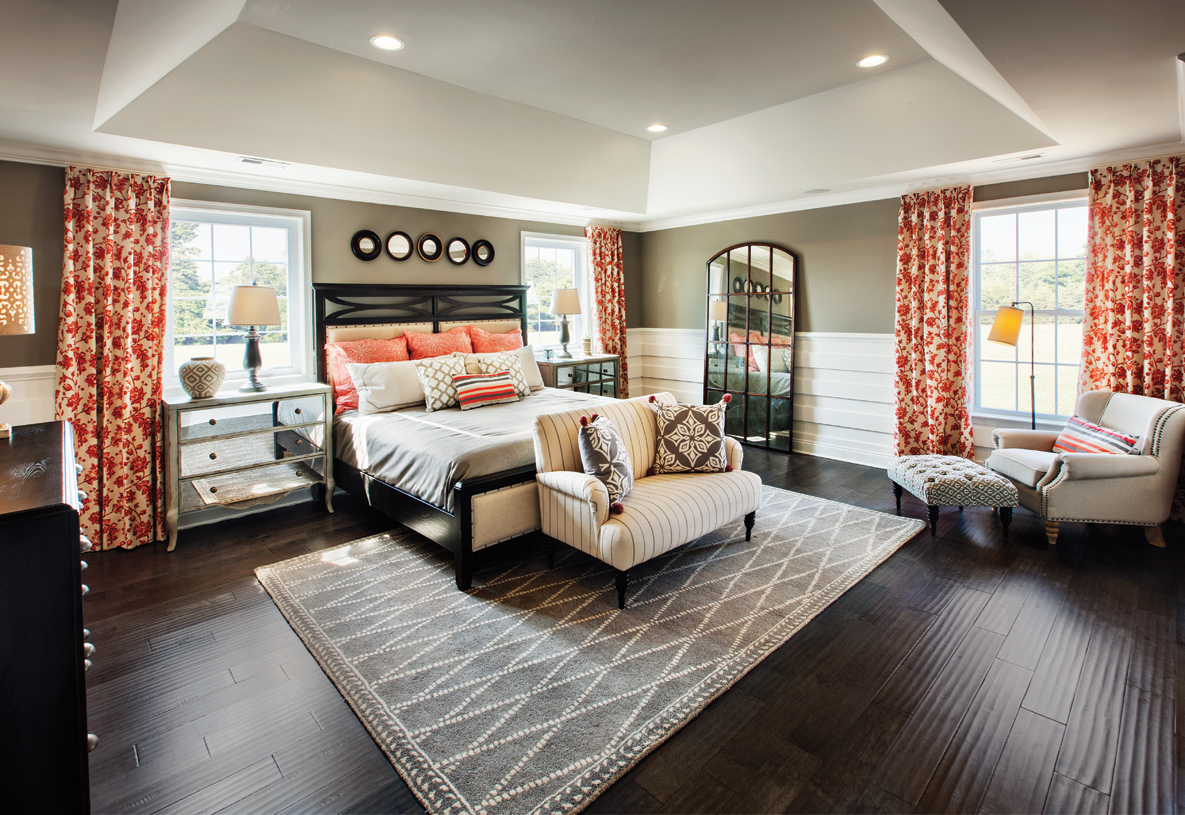 Expansive primary bedroom suites with multiple walk-in closets