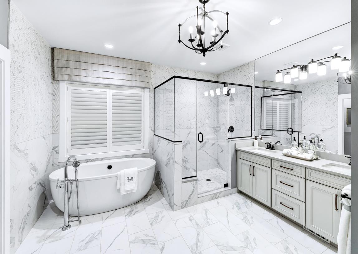 Luxurious primary bath retreats