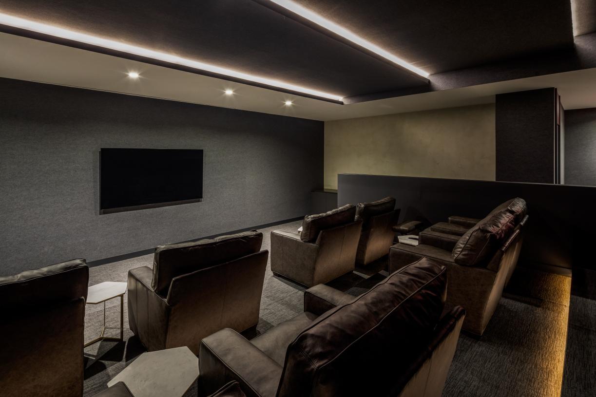 Media screening room
