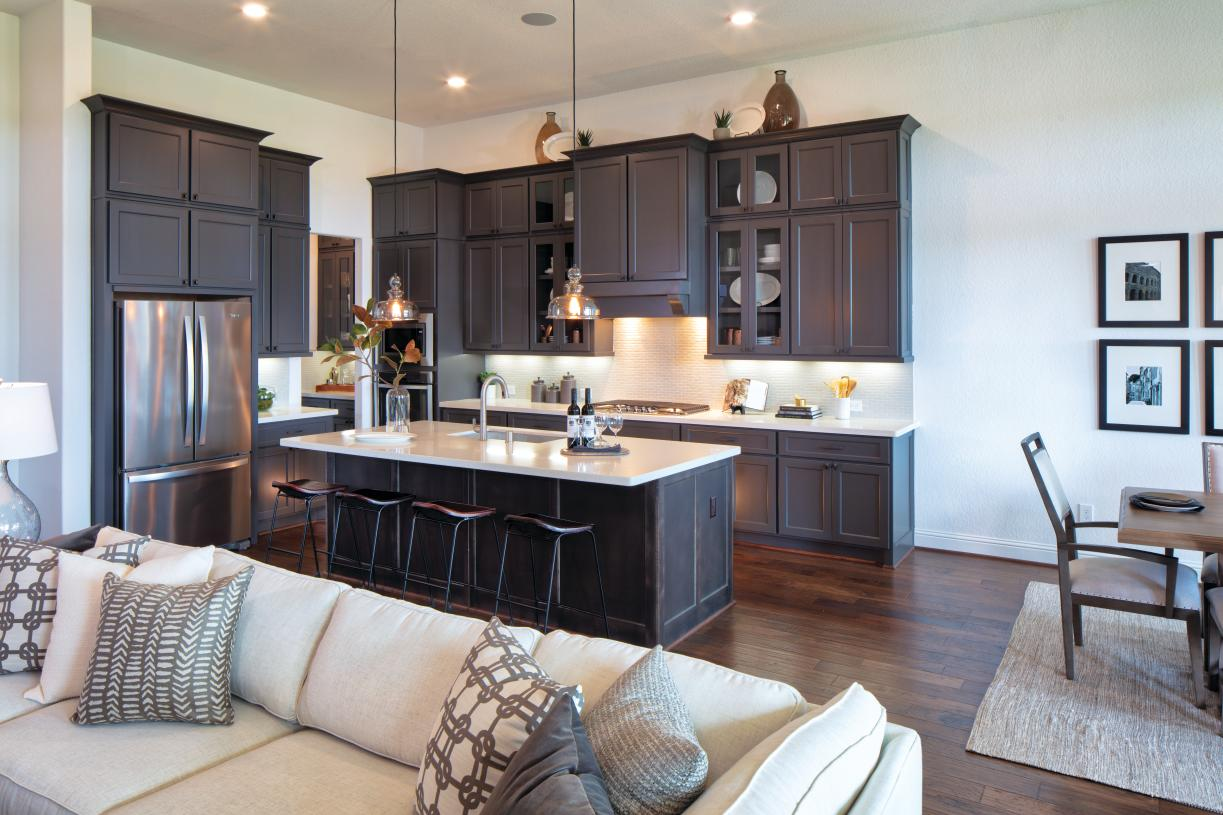 Chef's kitchen with gas cooktop and stainless appliances