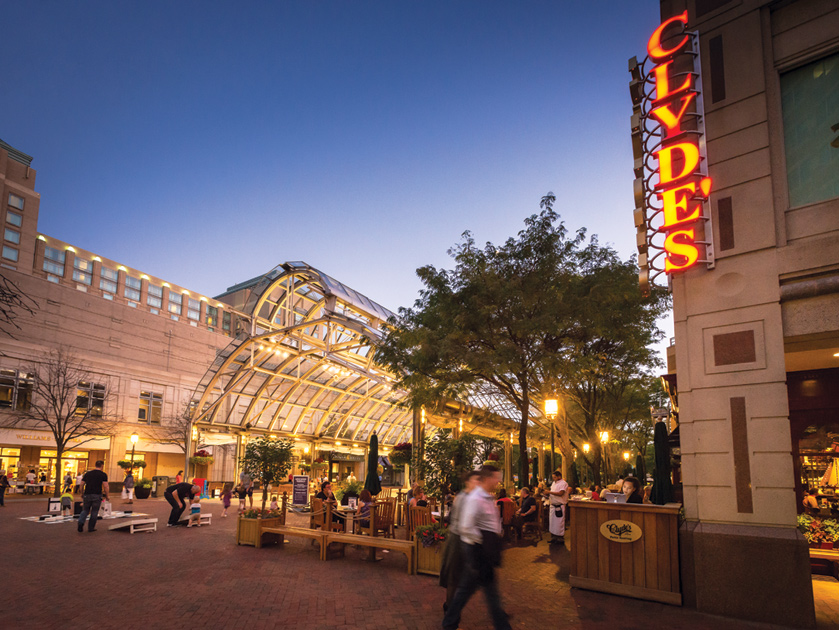Reston Town Center is a vibrant outdoor venue offering more than 50 retailers, more than 35 restaurants, and a multi-screen cinema