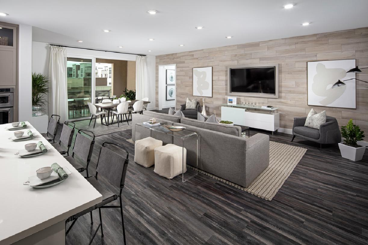 Norwood Model Kitchen, Living and Dining Area
