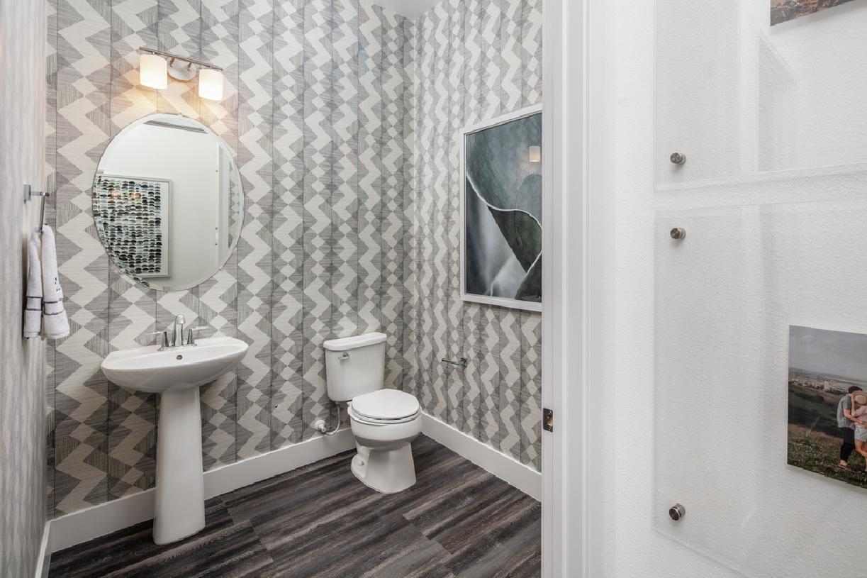 Model home powder room