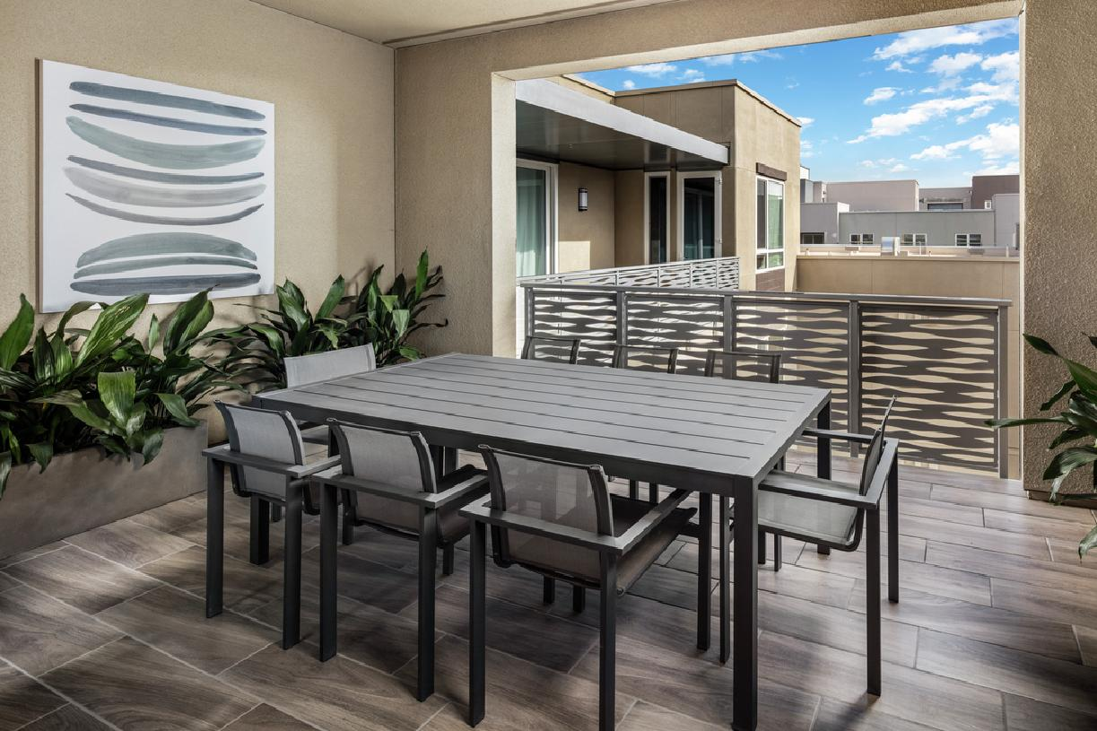 Model home private rooftop deck