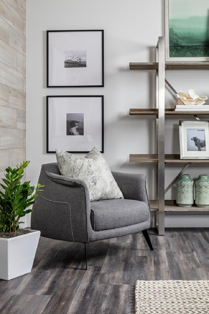 Model home living area