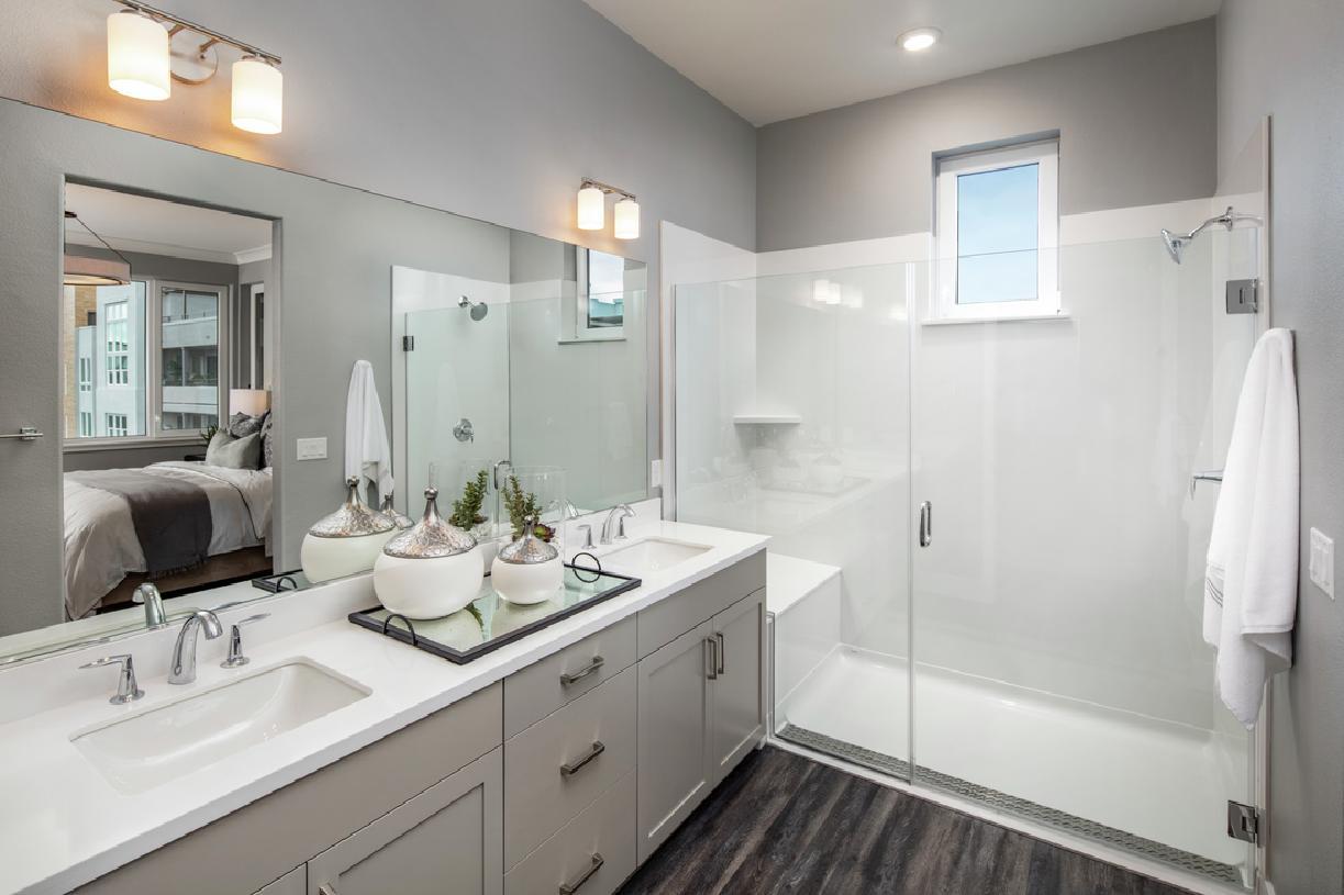 Model primary bathroom