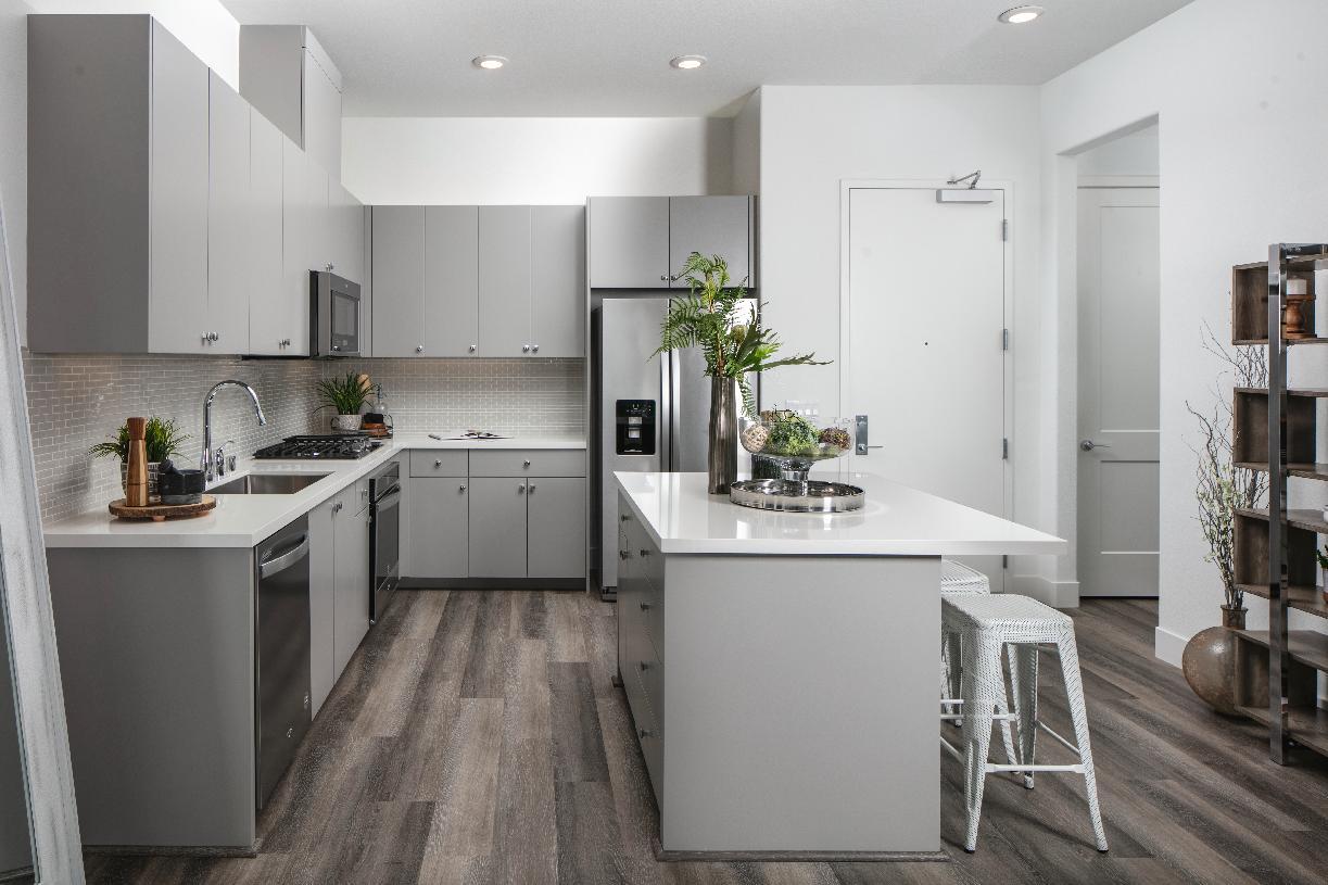 Model home kitchen area