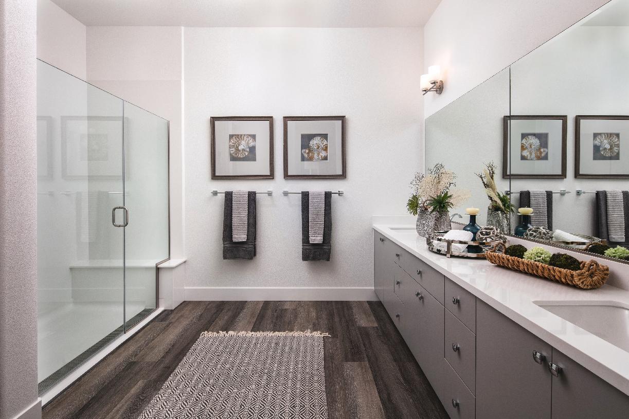 Model home primary bath