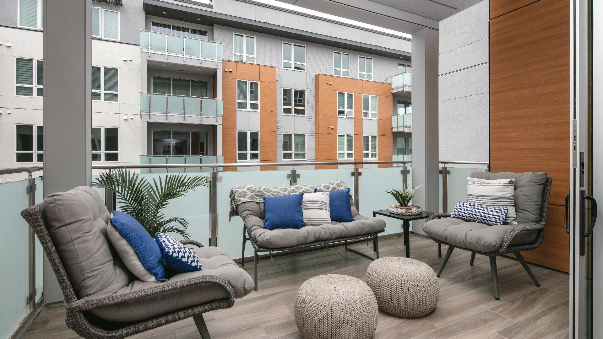 Model home private deck
