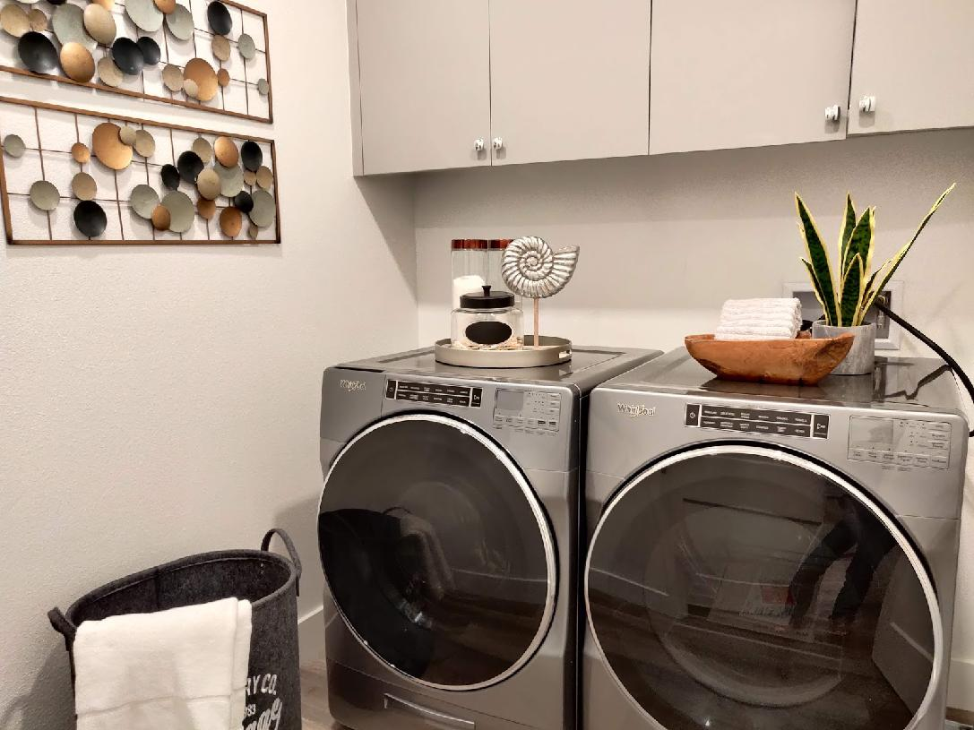 Model home laundry room