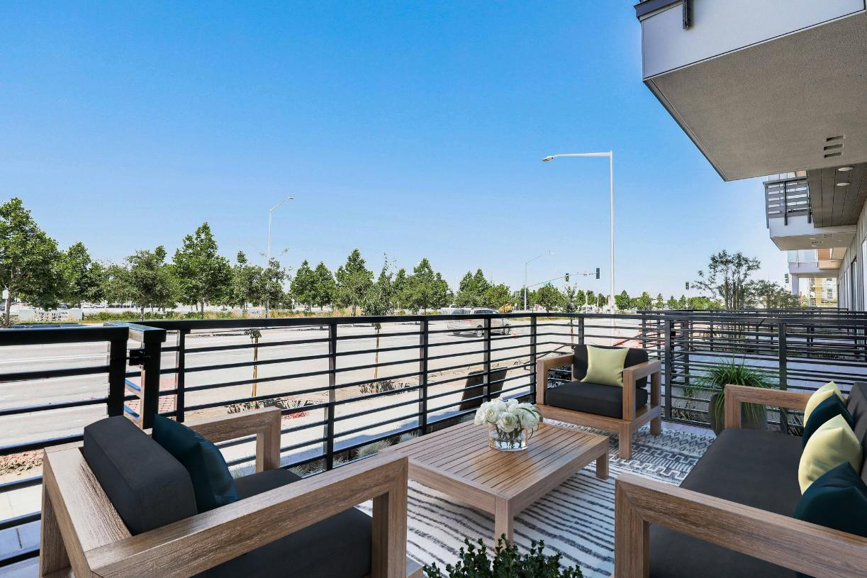 Toll Brothers Westbourne Park at Metro Crossing Private Patio Entrance