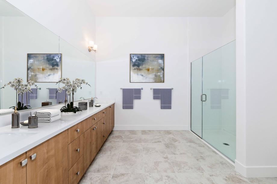 Toll Brothers Westbourne Park at Metro Crossing Elegant Primary Bathroom