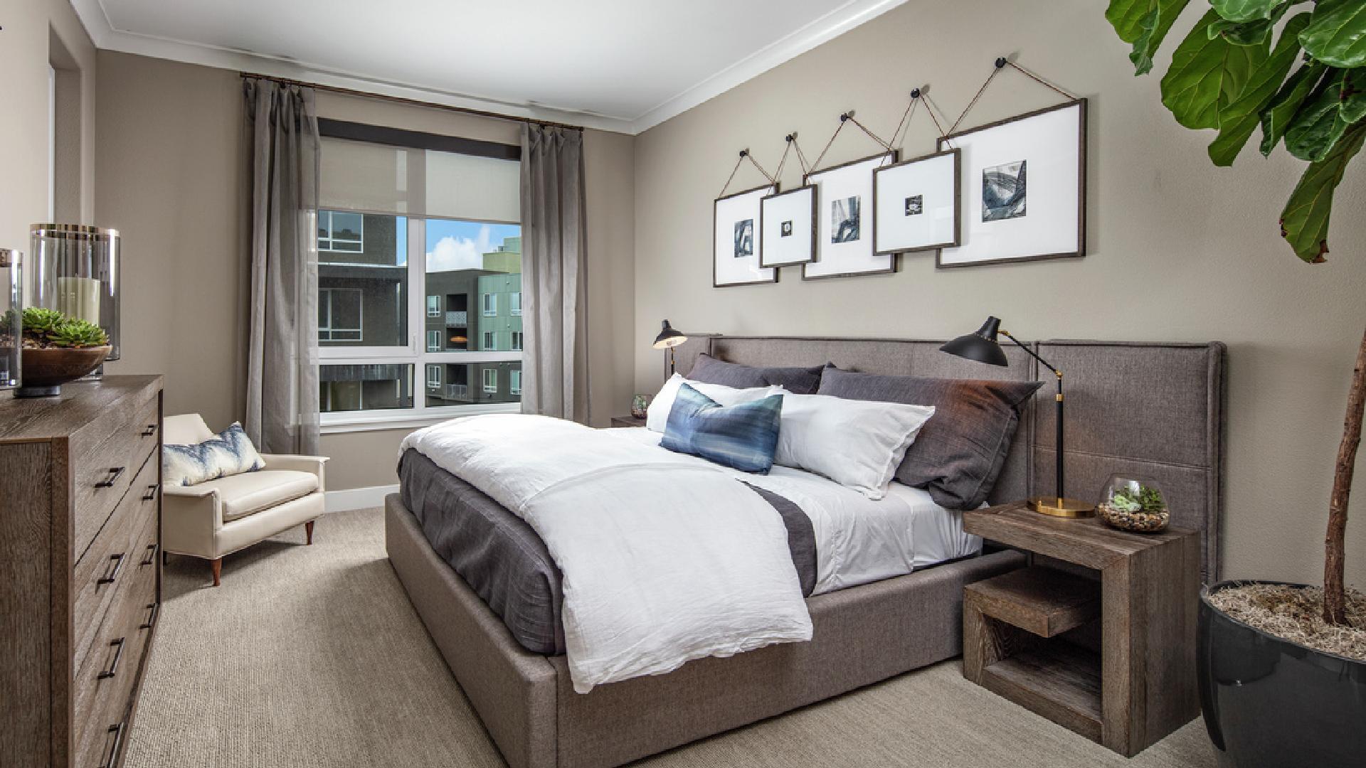Model home primary bedroom suite