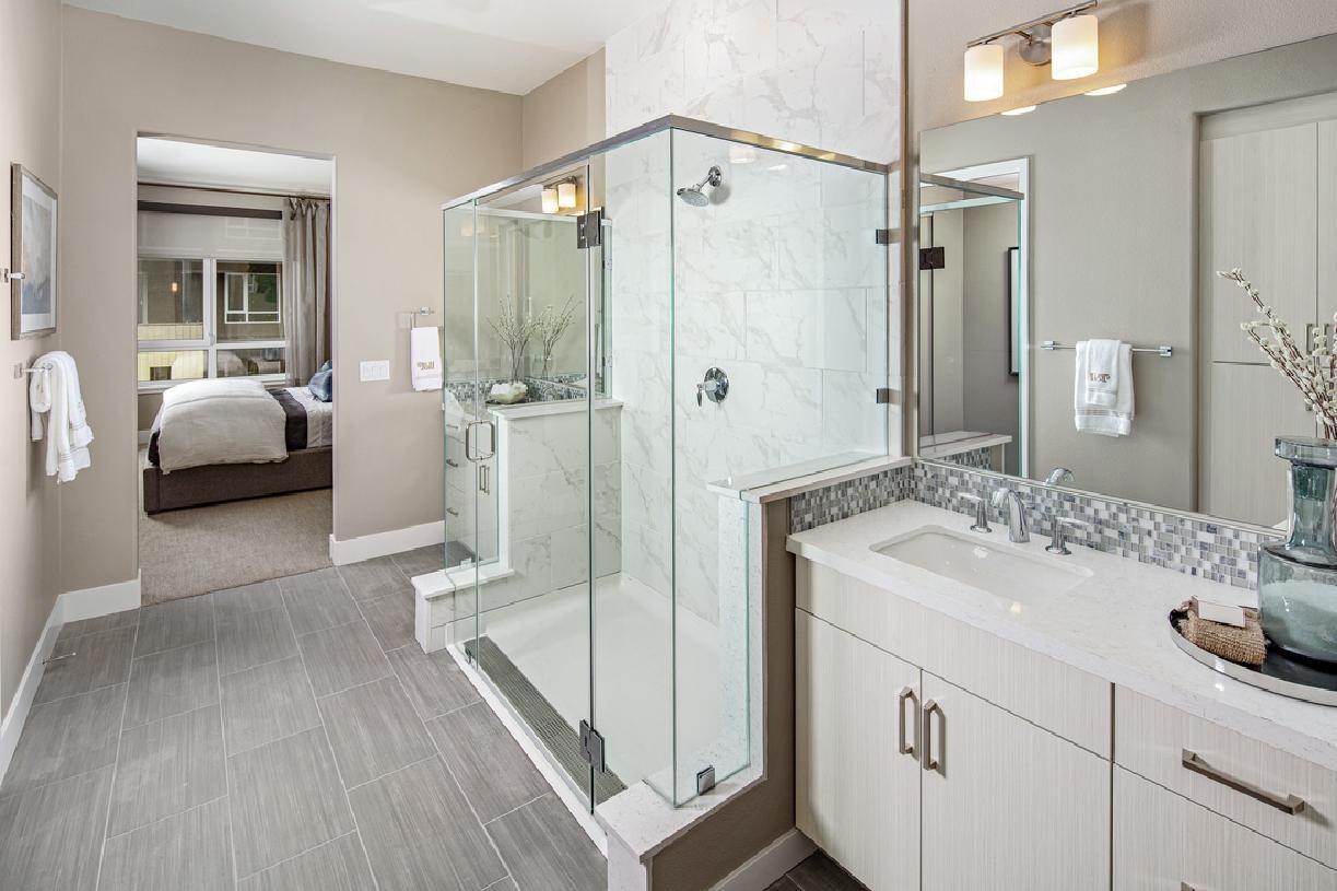 Model home primary bathroom shower