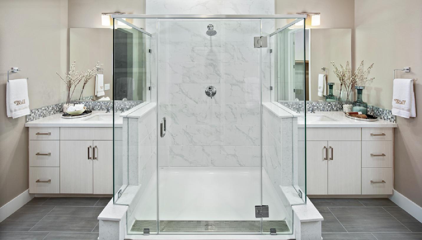 Model home primary bathroom