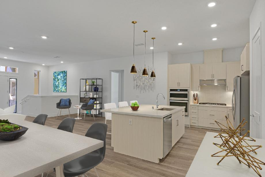 Living &Dining Layout- Images are renderings only. Materials &finishes may differ per unit