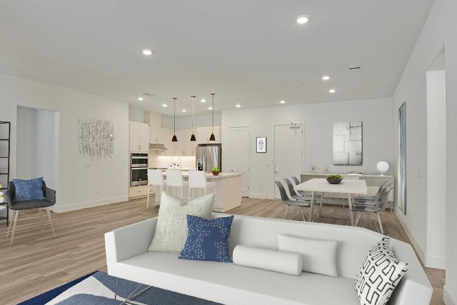 Kitchen &Dining Layout- Images are renderings only. Materials &finishes may differ per unit
