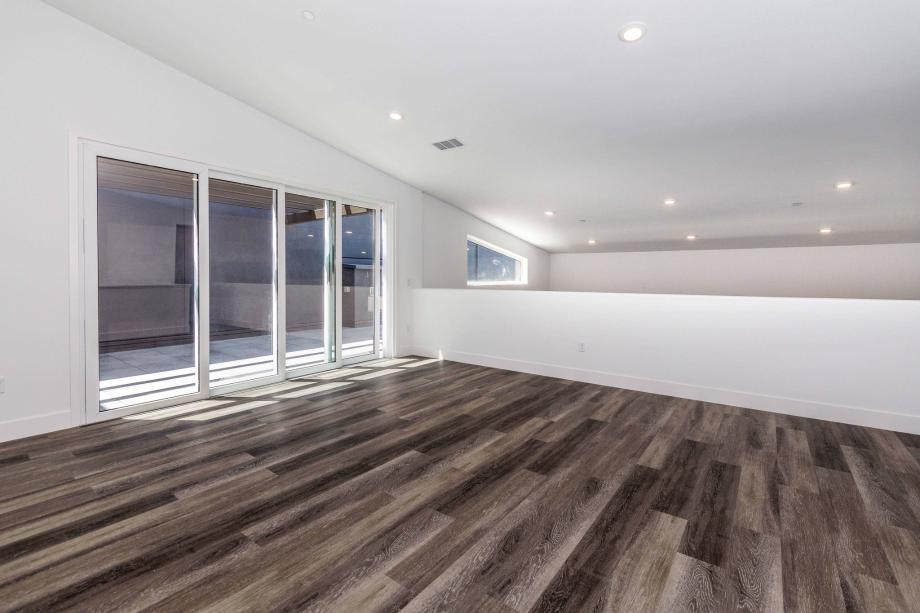 Toll Brothers Chancery Lane Penthouse Media Room with Entrance to Roof Terrace Perfect for Entertaining
