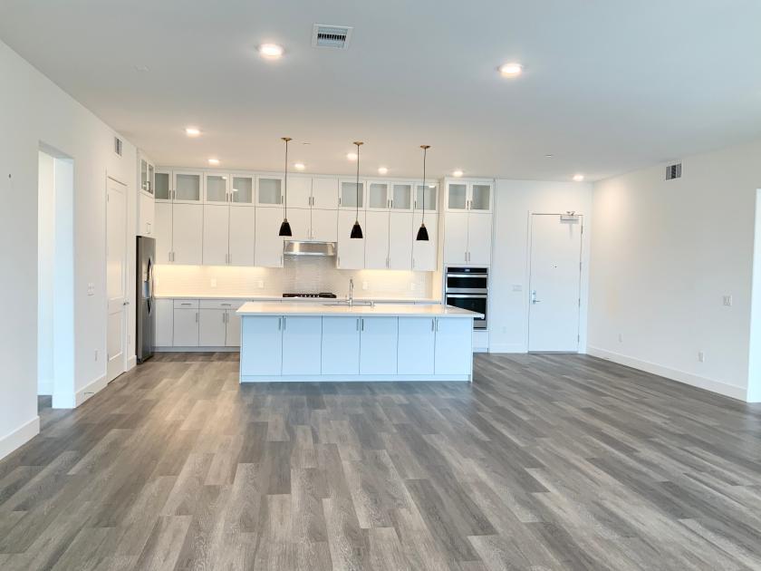 Open-concept floor plan