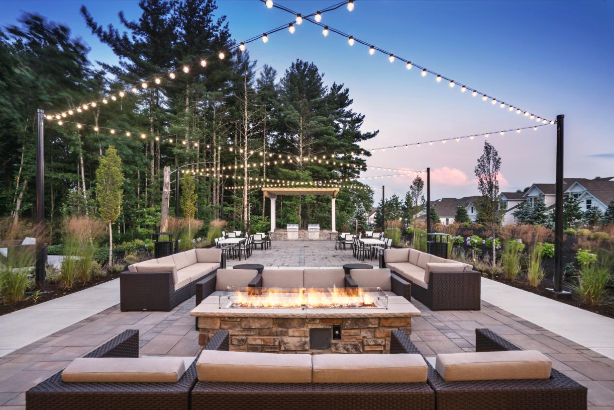 Outdoor lounge area for a relaxing atmosphere for warm nights