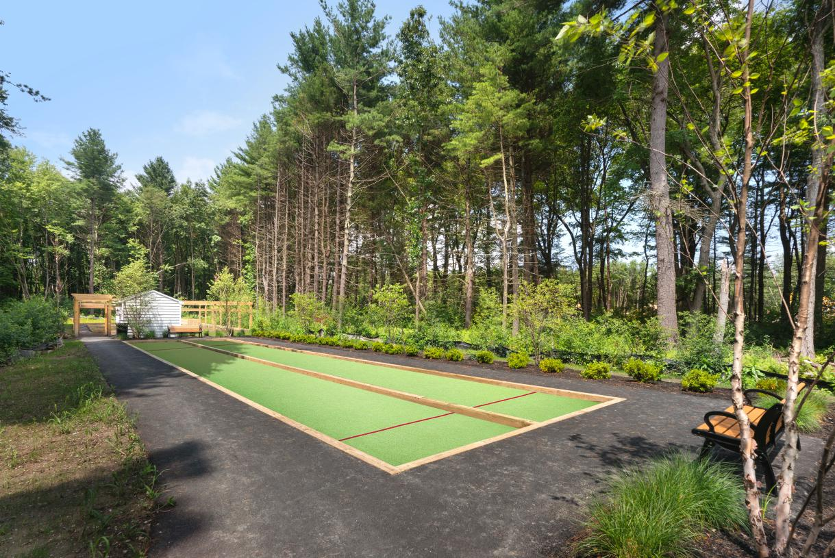 Challenge your neighbors to a game of bocce